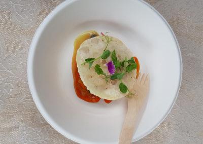 """Heinz-Beck-per-La-Pergola---""""Crostacei-marinati-con-peperoni-e-confettura-di-cipolle-di-Tropea"""""""